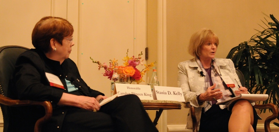 Stasia D. Kelly interviews The Honorable Carolyn Dineen King during the Leadership Luncheon.