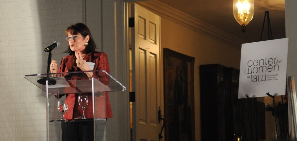 Nancy Gertner, Judge, United States District Court for the District of Massachusetts (Ret.) addresses the audience at the Legacy Dinner.