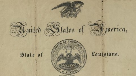 An antique United States passport document from 1836 on yellowed and creased paper