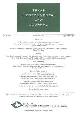 Texas Environmental Law Journal Volume 43 Issue 3 cover