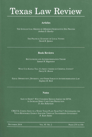 Texas Law Review Volume 93 Issue 2 cover