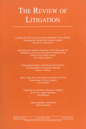 The Review of Litigation Volume 33 Issue 4 cover