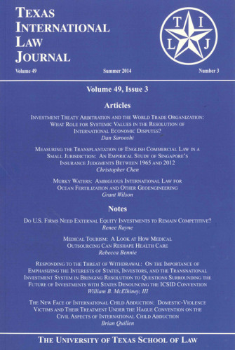 Texas International Law Journal cover