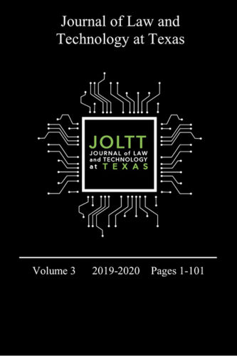 Journal of Law and Technology at Texas Volume 3 cover art