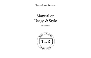 Texas Law Review Manual on Usage and Style 15th Edition TXShop cover art