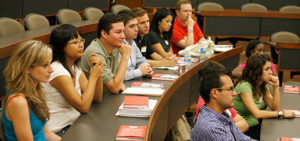 Prospective Texas Law students participating in an optional mini visit
