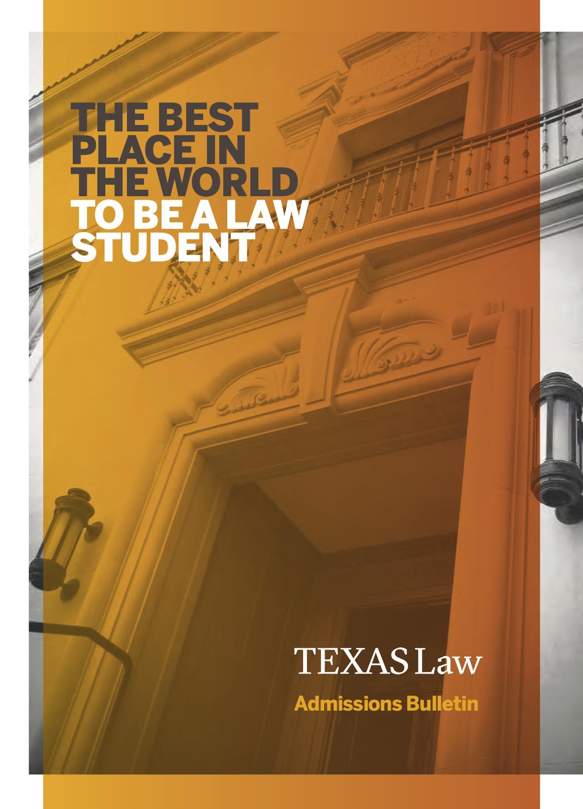 Texas Law J.D. Bulletin cover