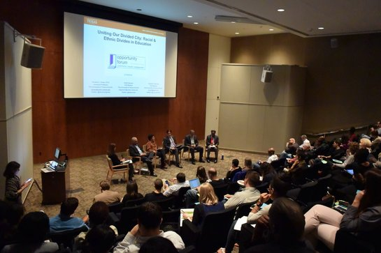 Panelists discuss educational inequity in Austin during the third installment of the Opportunity Forum speaker series