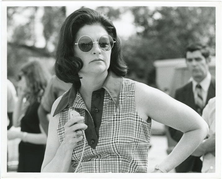 "Frances ""Sissy"" Tarlton Farenthold speaking to constituents , circa 1972"