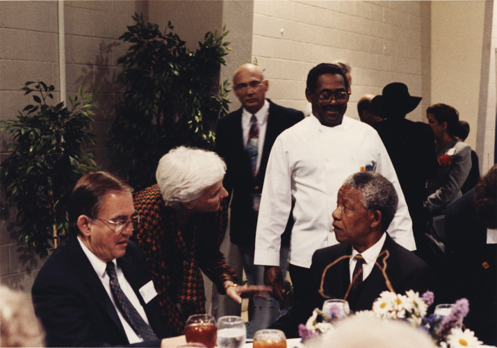 "Frances ""Sissy"" Farenthold with Joseph McFadden and Nelson Mandela at the Rothko Chapel and The Carter-Menil Human Rights Awards, 1991"