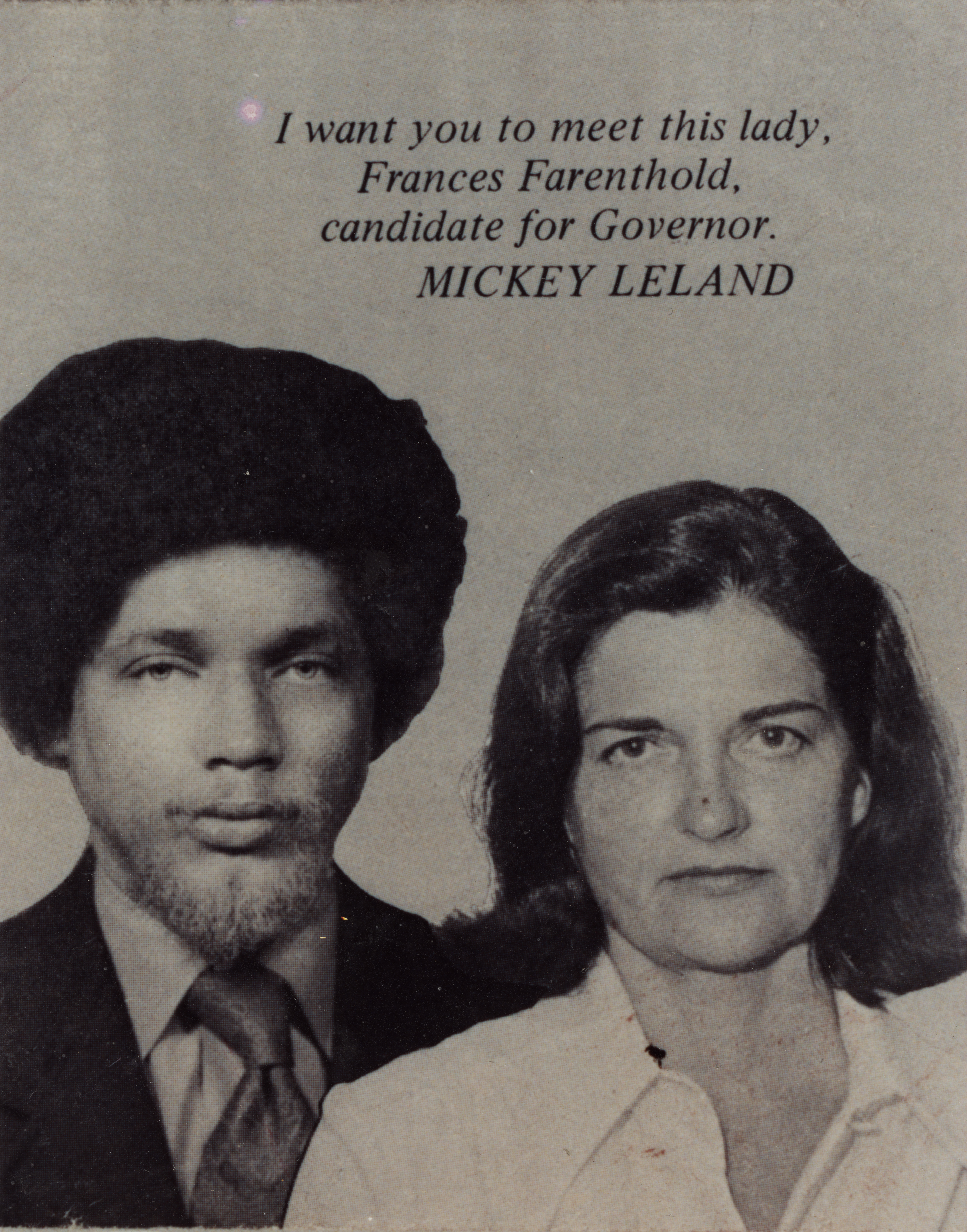 Campaign Photograph of Frances Tarlton Farenthold and Mickey Leland