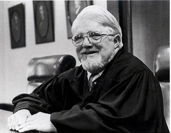 Carlos Cadena, '40, sitting in a courtroom