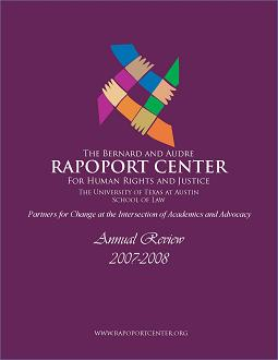 Cover page of 2007-2008 Annual Review