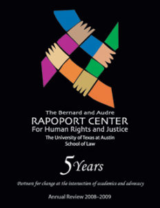 Cover page of 2008-2009 Annual Review