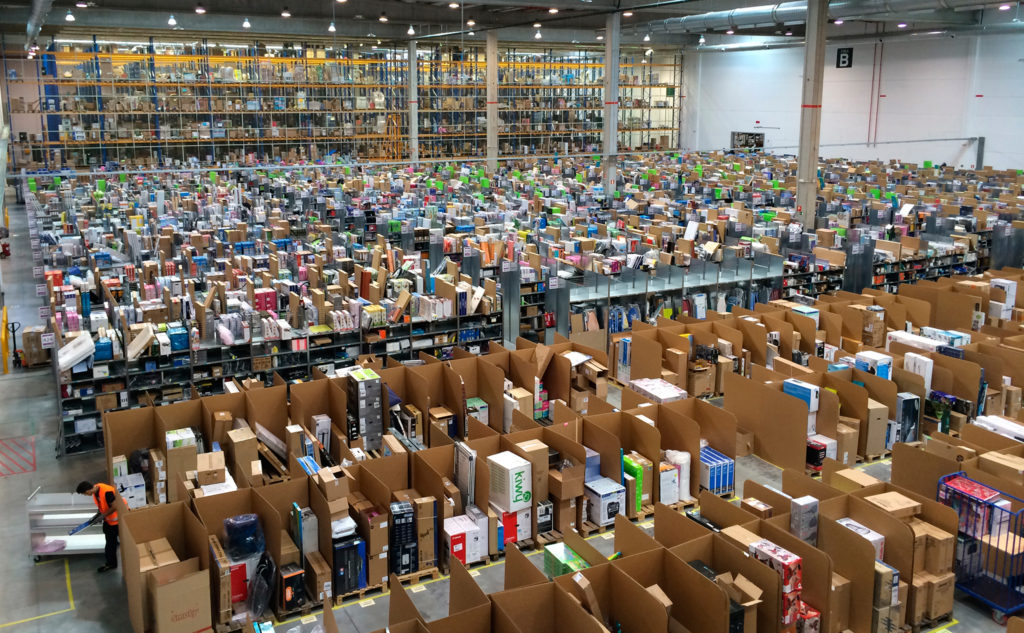 Amazon.es warehouse in San Fernando de Henares, Madrid, Spain. (photo by Álvaro Ibáñez shared under a CC BY 2.0 license)