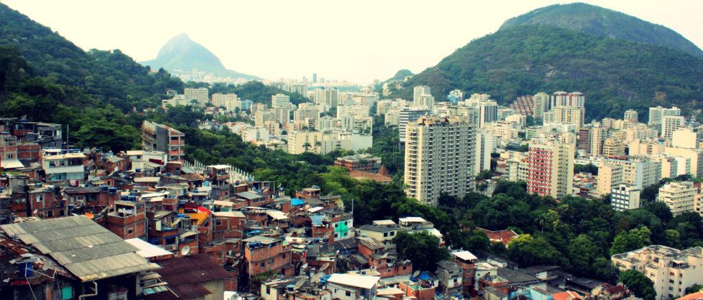 View from favela Santa Marta in Río de Janeiro
