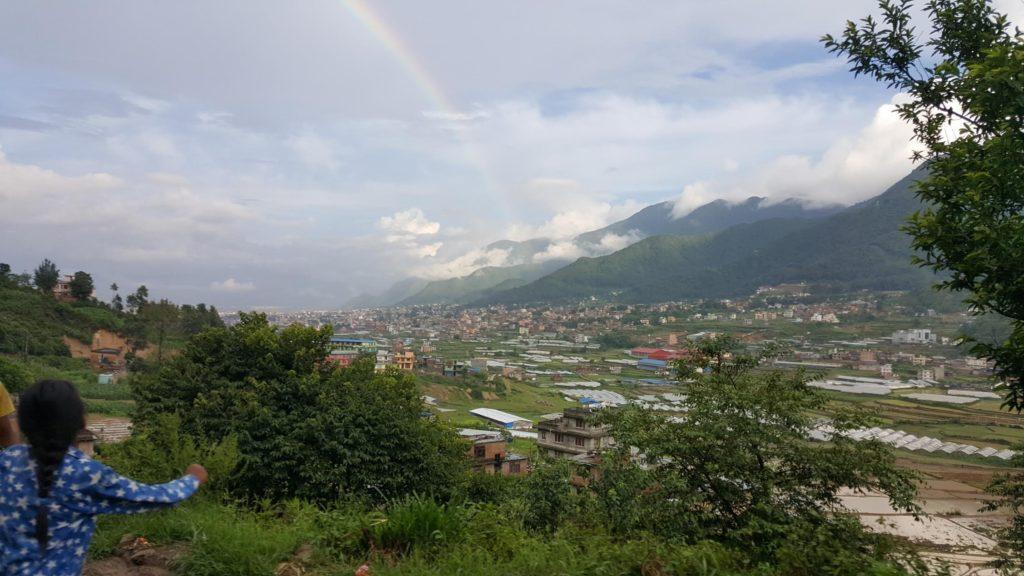 Rainbow outside of Kathmandu