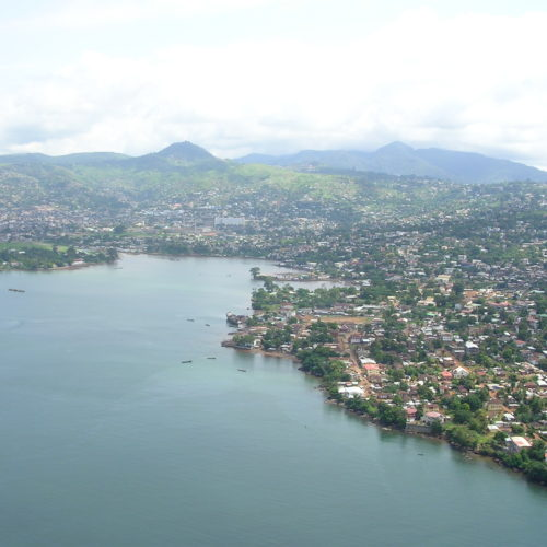 Sierra Leone river and town