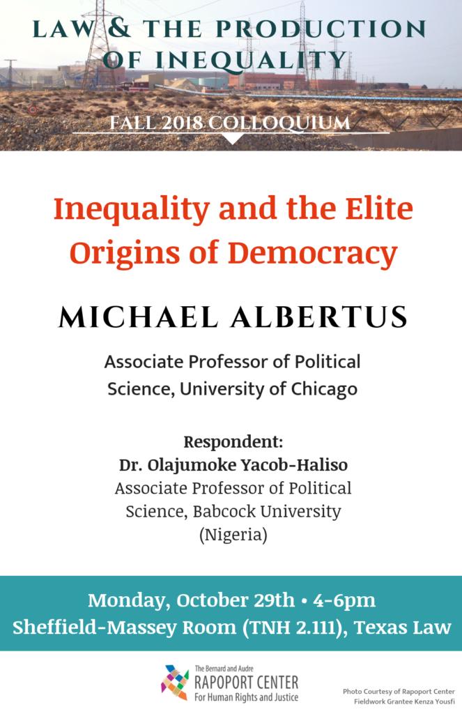 Michael Albertus talk poster