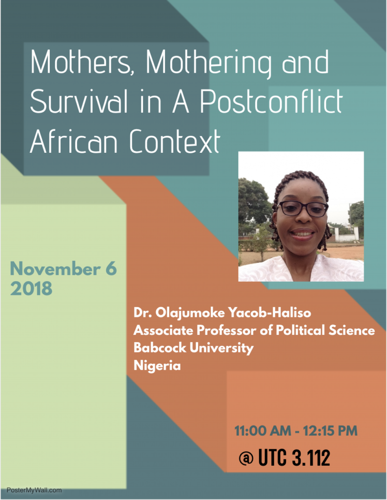 Mothers, Mothering and Survival in a Post-conflict African Context