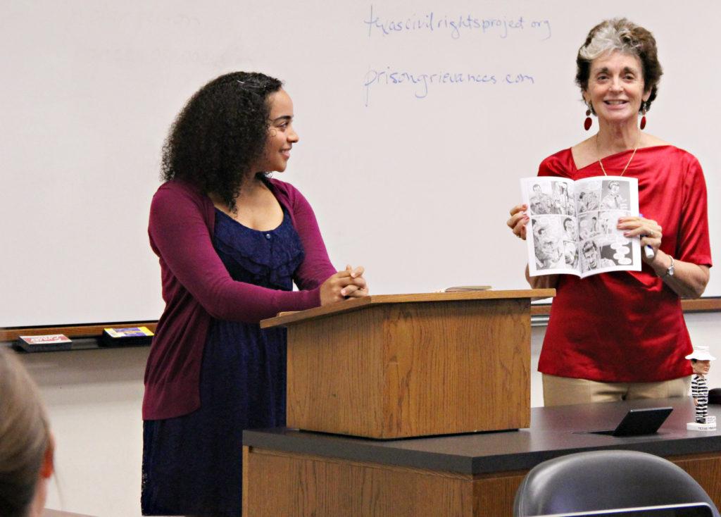 Michelle Smith, '11, and Terri LeClercq
