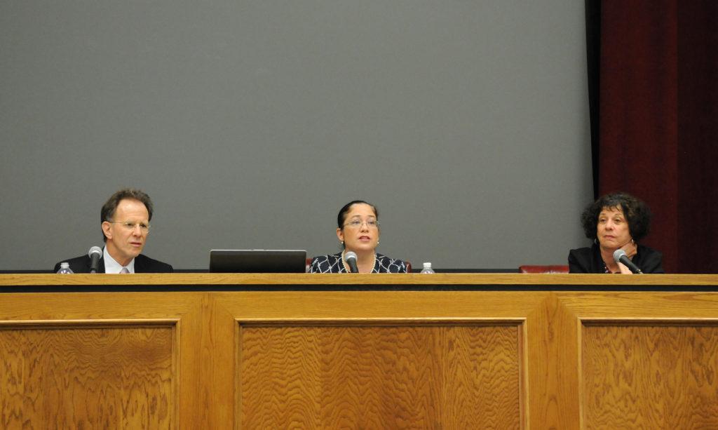 Panelists (l-r): Lucas Guttentag, Nina Perales, Barbara Hines