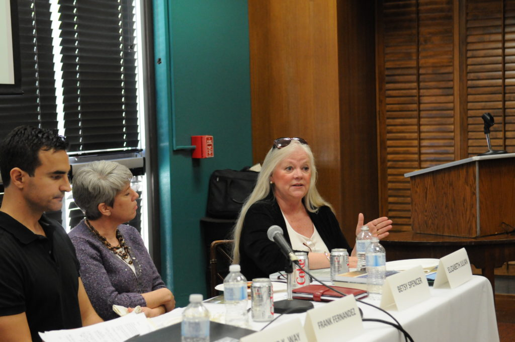 Panelists Frank Fernandez, Betsy Spencer, Betsy Julian