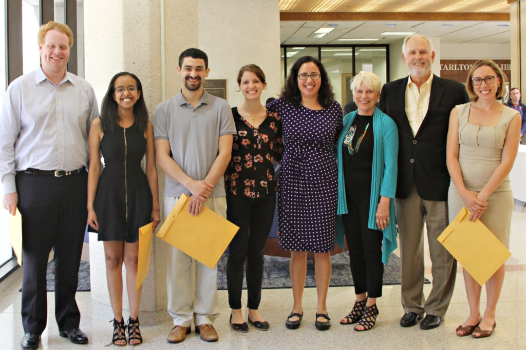 Group photo of Whitehurst summer fellows with Bill & Stephanie Whitehurst