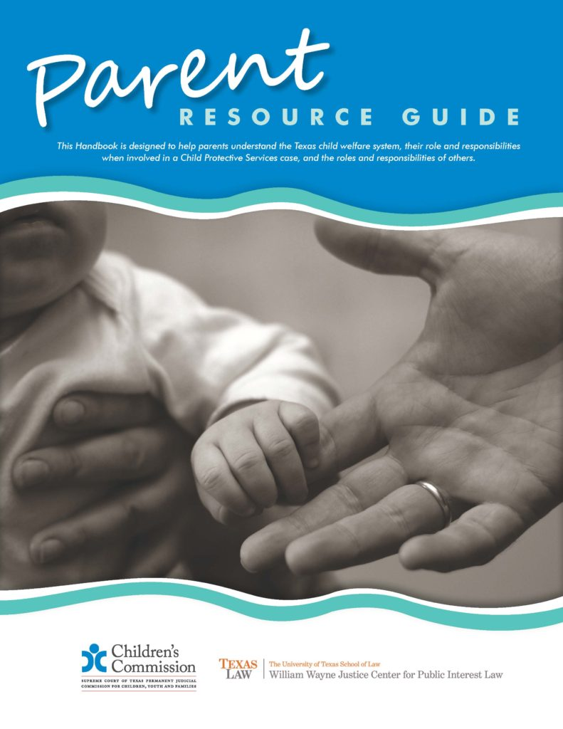 cover of parent resource guide