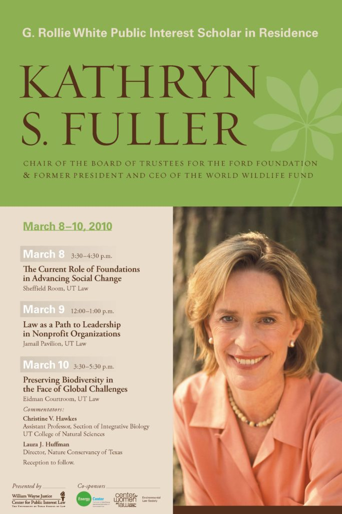 Flyer advertising Kathryn Fuller talk