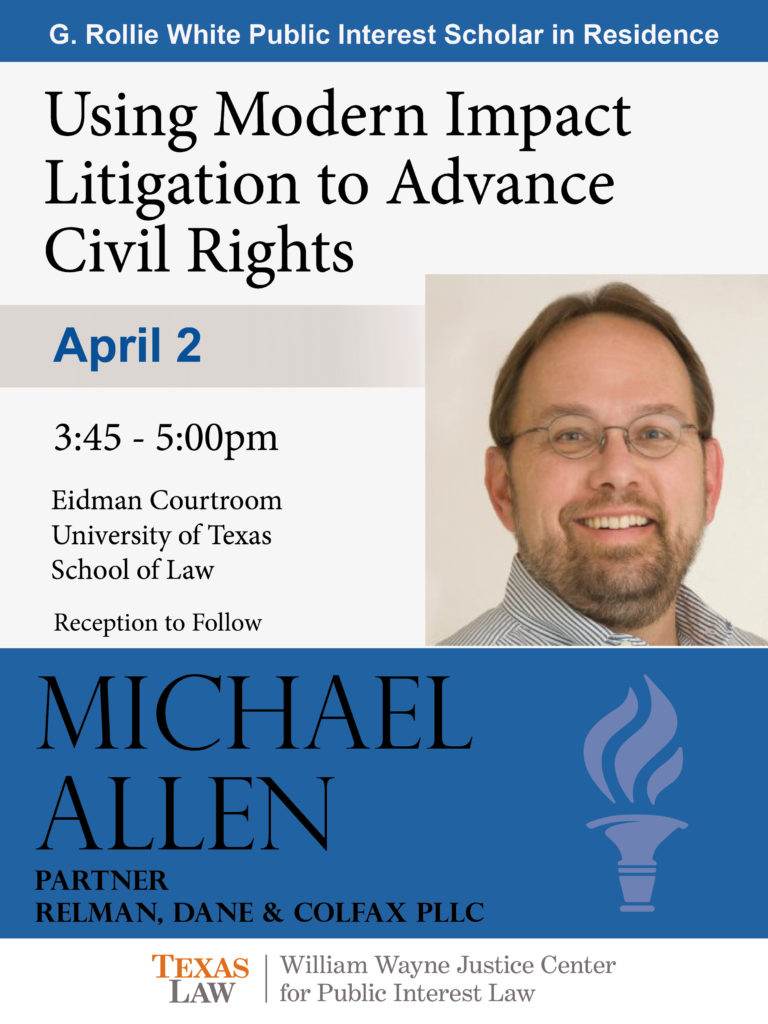 Flyer advertising Michael Allen talk