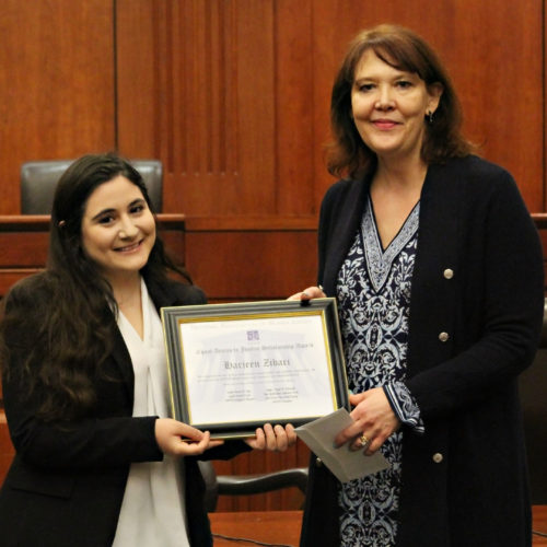Photo of Harjeen Zibari and Judge Sage