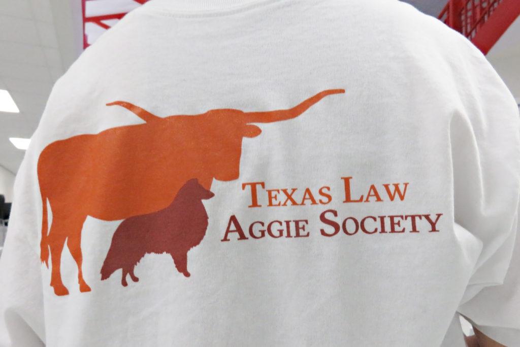 Texas Law Aggie Society tshirt