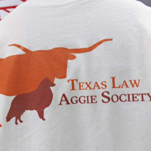 Texas Law Aggie Society tshirt