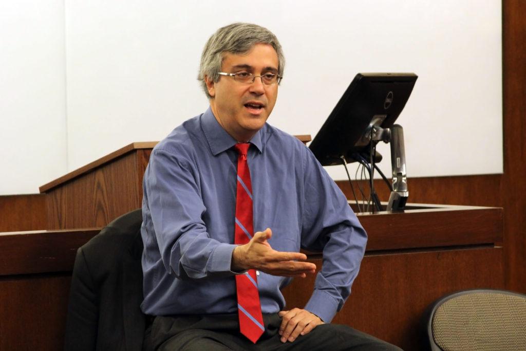 Thomas Saenz speaking to audience