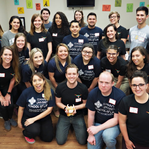 Photo of all student volunteers