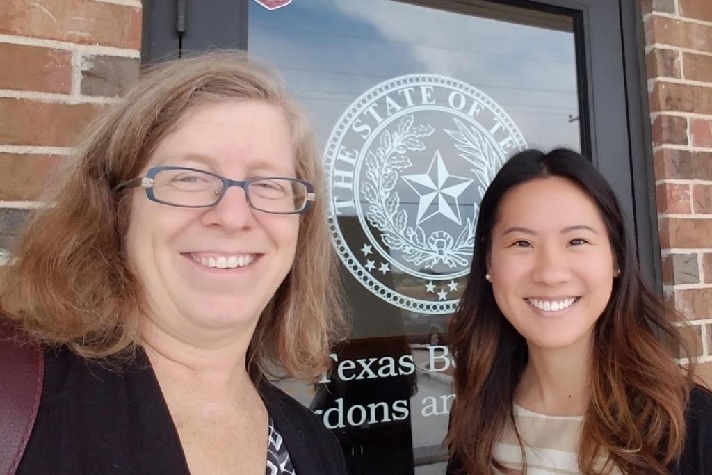 Photo of Helen Gaebler and Julia Chung