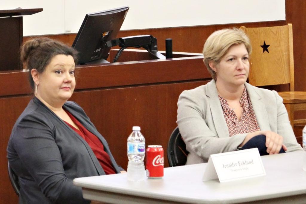 Photo of Thompson & Knight attorneys Jennifer Ecklund and Elizabeth Myers