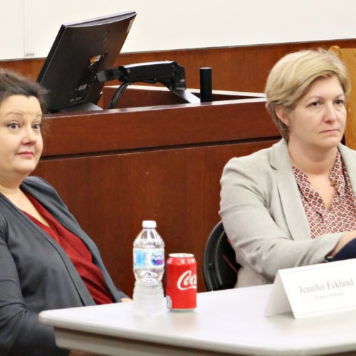 Photo of Thompson & Knight attorneys Jennifer Ecklund and Elizabeth Myers