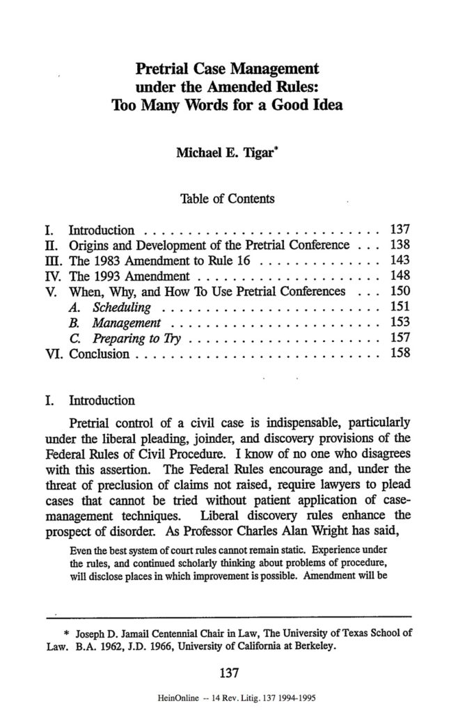 The Michael Tigar Archive | Decades | 1990s