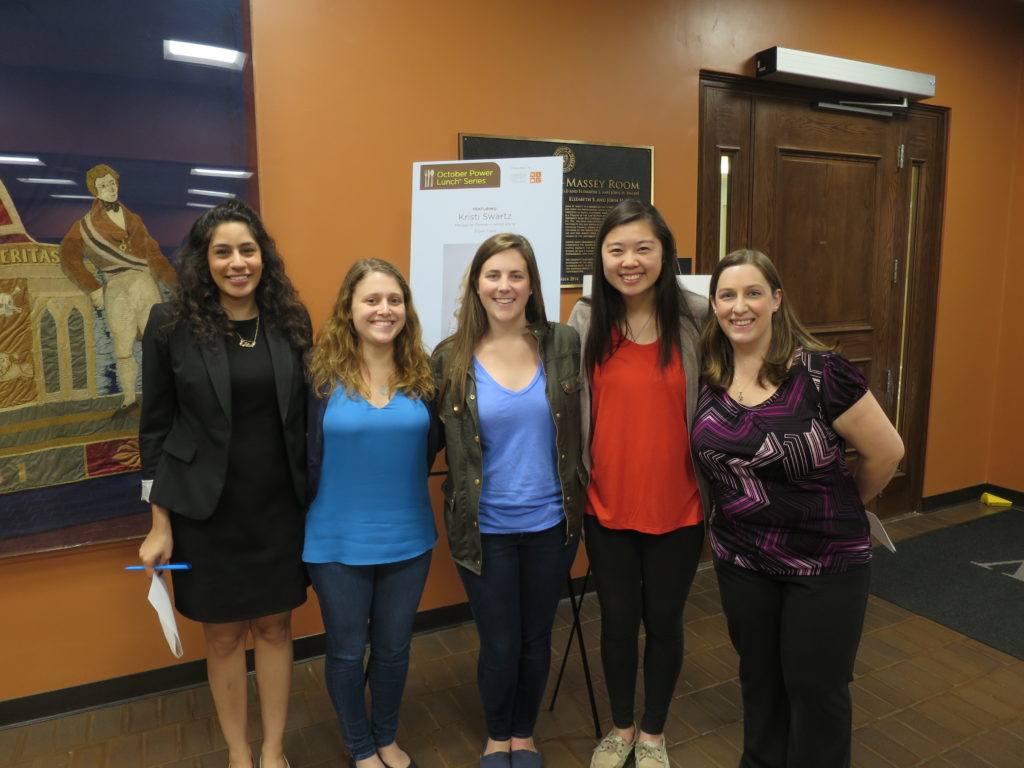 CWIL Interns (from left to right): Serene Ateek, Sara Block, Coco Sprague, Laura Zhang, and Rachel McKenna