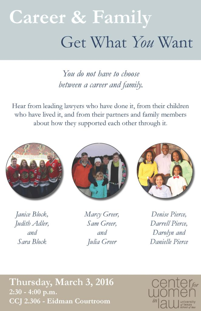 Career and Family flyer