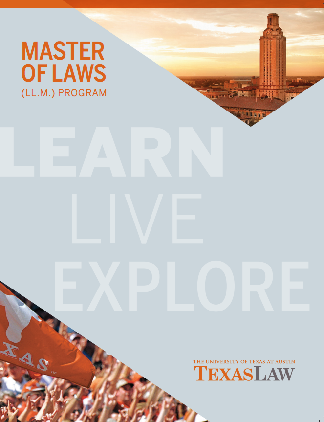 Texas Law LL.M. Admissions Bulletin cover