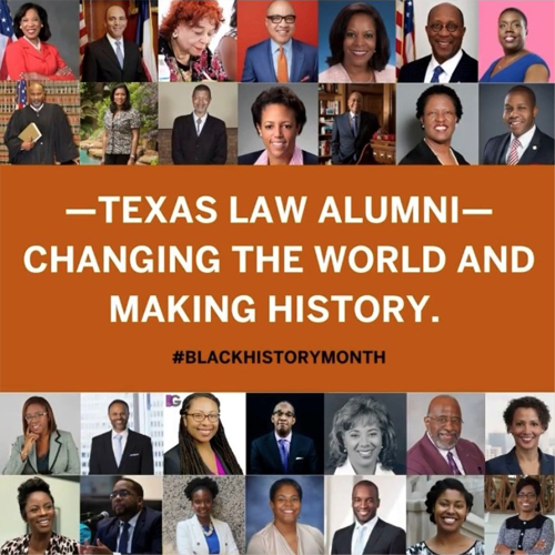 Photo montage of Texas Law Alumni recognized during Black History Month