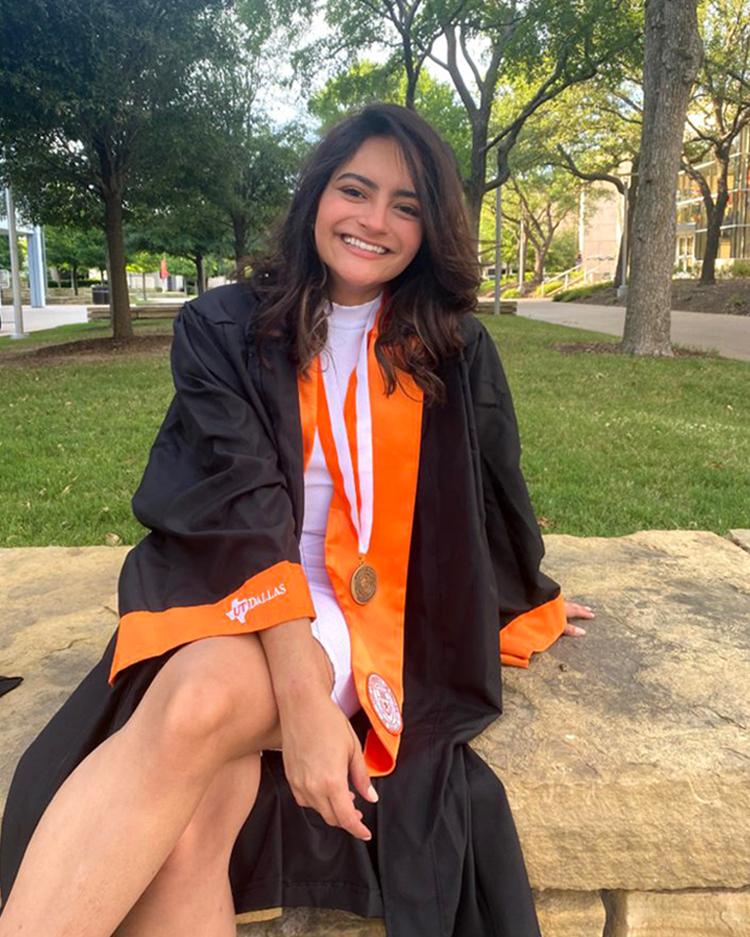 Barbara Di Castro Pimenta in graduation gown