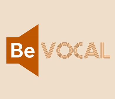 Be Vocal bystander intervention logo