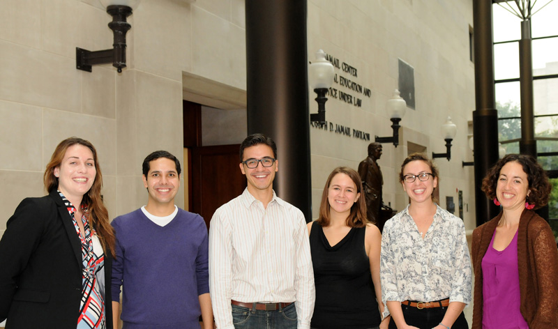 The 2012–2013 Public Service Scholars are, left to right: Amy Friedman, '13; Brian Quillen, '14; Coulter Goodman, '13; Mackenzie Meador, '14; Sofia Meissner, '15; Abby Anna Batko-Taylor, '13.