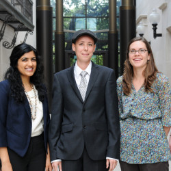 The 2012 Baron & Budd Public Interest Summer Fellows are, left to right, Whitney Drake, Vanshika Vij, Maddy Dwertman, Mary Chisolm, and Kali Cohn.