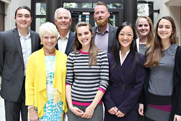2014 Whitehurst Summer Fellows with Bill and Stephanie Whitehurst