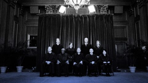 An image of the nine supreme court justices